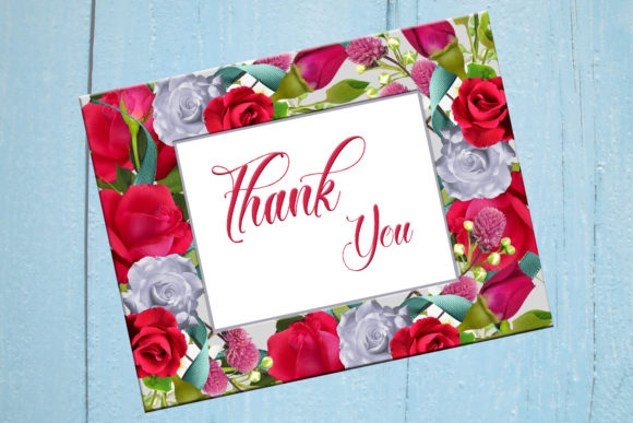 Download Free Thank You Printable Thank You Cards Graphic By Denysdigitalshop for Cricut Explore, Silhouette and other cutting machines.