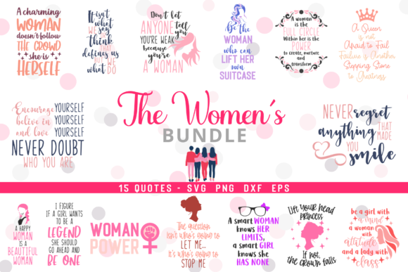 Download Free The Women S Bundle Graphic By Graphipedia Creative Fabrica for Cricut Explore, Silhouette and other cutting machines.