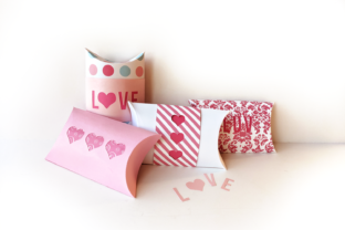 Valentine Love and Hearts Pillow Box Graphic 3D Pillow Box By RisaRocksIt