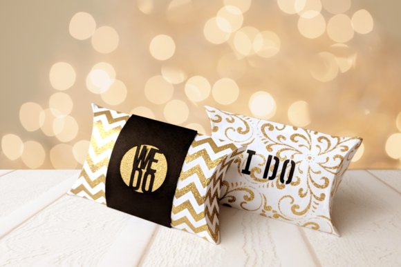 Wedding I Do We Do Pillow Box Graphic 3D Pillow Box By RisaRocksIt
