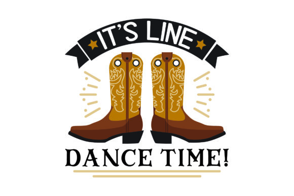 It's Line Dance Time! Farm & Country Craft Cut File By Creative Fabrica Crafts