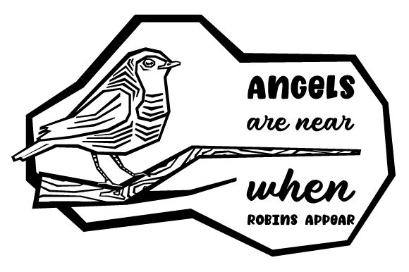 Angels Are Near When Robins Appear Svg Cut File By Creative