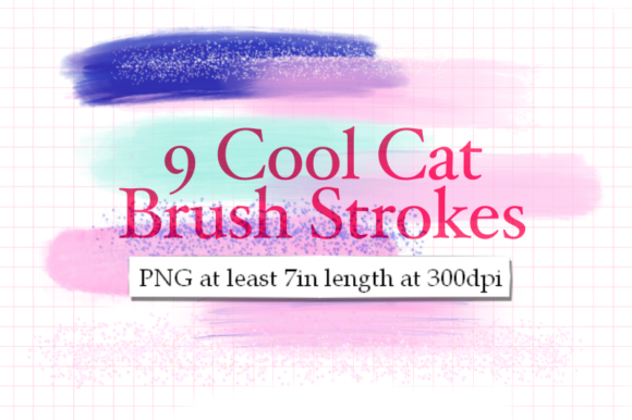 Print on Demand: 9 Cool Cat Brush Strokes Graphic Textures By Tubiganart
