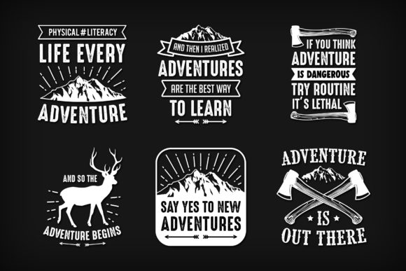 Adventure Quotes Graphic Illustrations By Creative Fabrica Freebies
