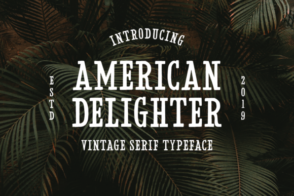 Print on Demand: American Delighter Serif Font By Martype.Co
