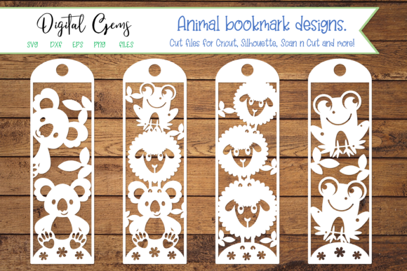 Download Free Animal Bookmark Designs Graphic By Digital Gems Creative Fabrica for Cricut Explore, Silhouette and other cutting machines.