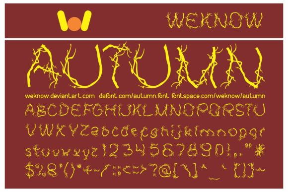 Print on Demand: Autumn Display Font By weknow