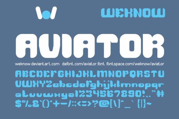 Print on Demand: Aviator Display Font By weknow