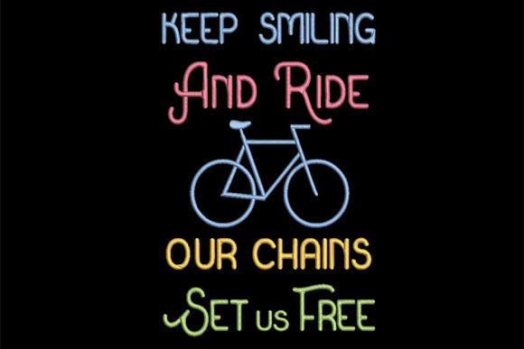 Print on Demand: Biker's Quote Sports Embroidery Design By Embroidery Shelter - Image 1