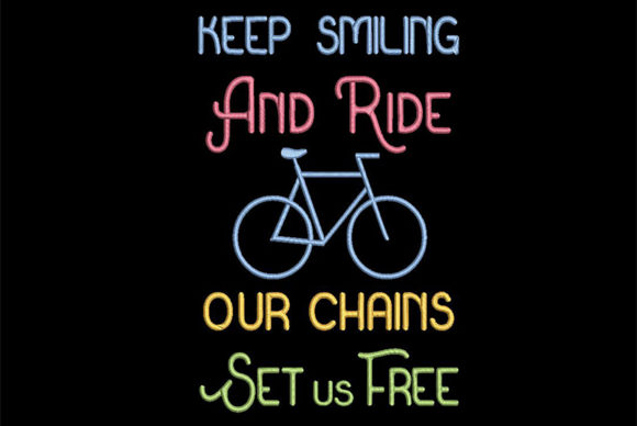 Bikers Quote Sports Embroidery Design By Embroidery Shelter