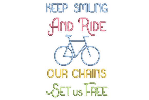 Print on Demand: Biker's Quote Sports Embroidery Design By Embroidery Shelter - Image 2