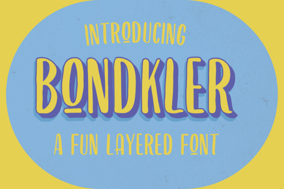 Print on Demand: Bondkler Display Font By Martype.Co