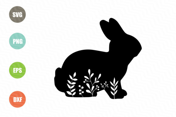 Download Free Easter Bunny Monogram Graphic By Logotrain034 Creative Fabrica for Cricut Explore, Silhouette and other cutting machines.