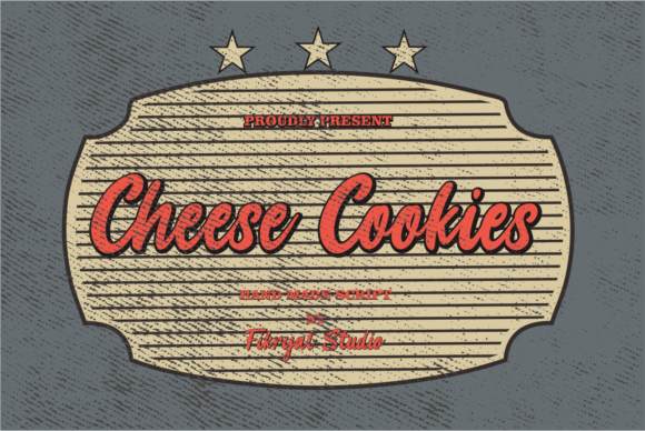 Print on Demand: Cheese Cookies Display Font By mfikryalif - Image 1