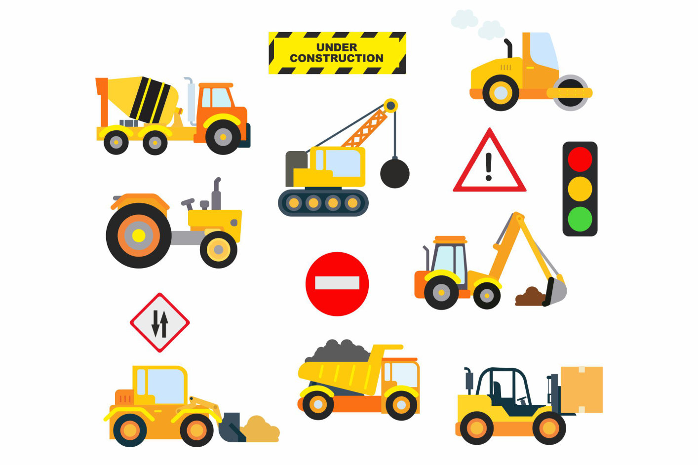 Download Free Construction Clipart Graphic By Svg Den Creative Fabrica for Cricut Explore, Silhouette and other cutting machines.