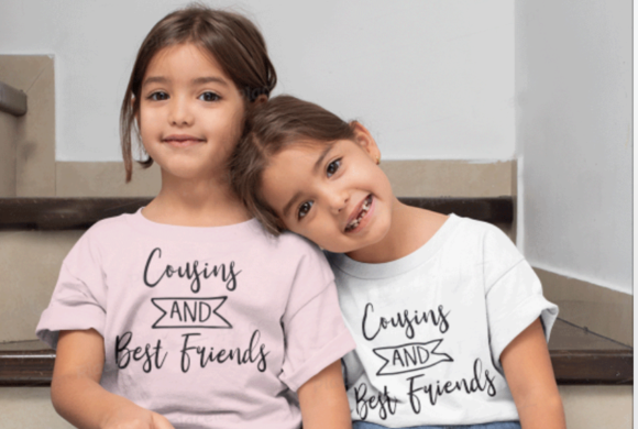 Download Free Cousins And Best Friends Graphic By Svgmamashop Creative Fabrica for Cricut Explore, Silhouette and other cutting machines.