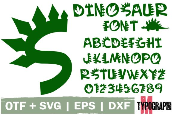 Print on Demand: Dinosaur Decorative Font By Typography Morozyuk