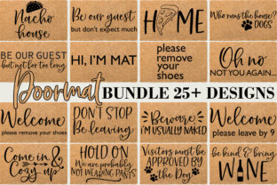 Print on Demand: Doormat Quotes Sayings Graphic Crafts By freelingdesignhouse 1