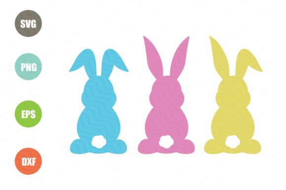 Download Free Easter Bunnies Graphic By Logotrain034 Creative Fabrica for Cricut Explore, Silhouette and other cutting machines.