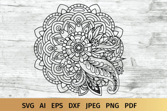 Floral Mandala Graphic Crafts By elinorka
