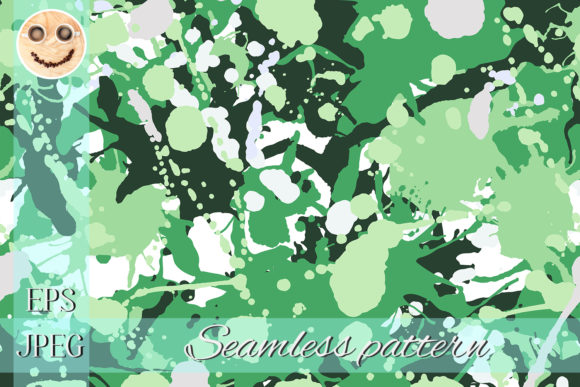 Print on Demand: Green, Grey, White Camouflage Pattern Graphic Patterns By TasiPas