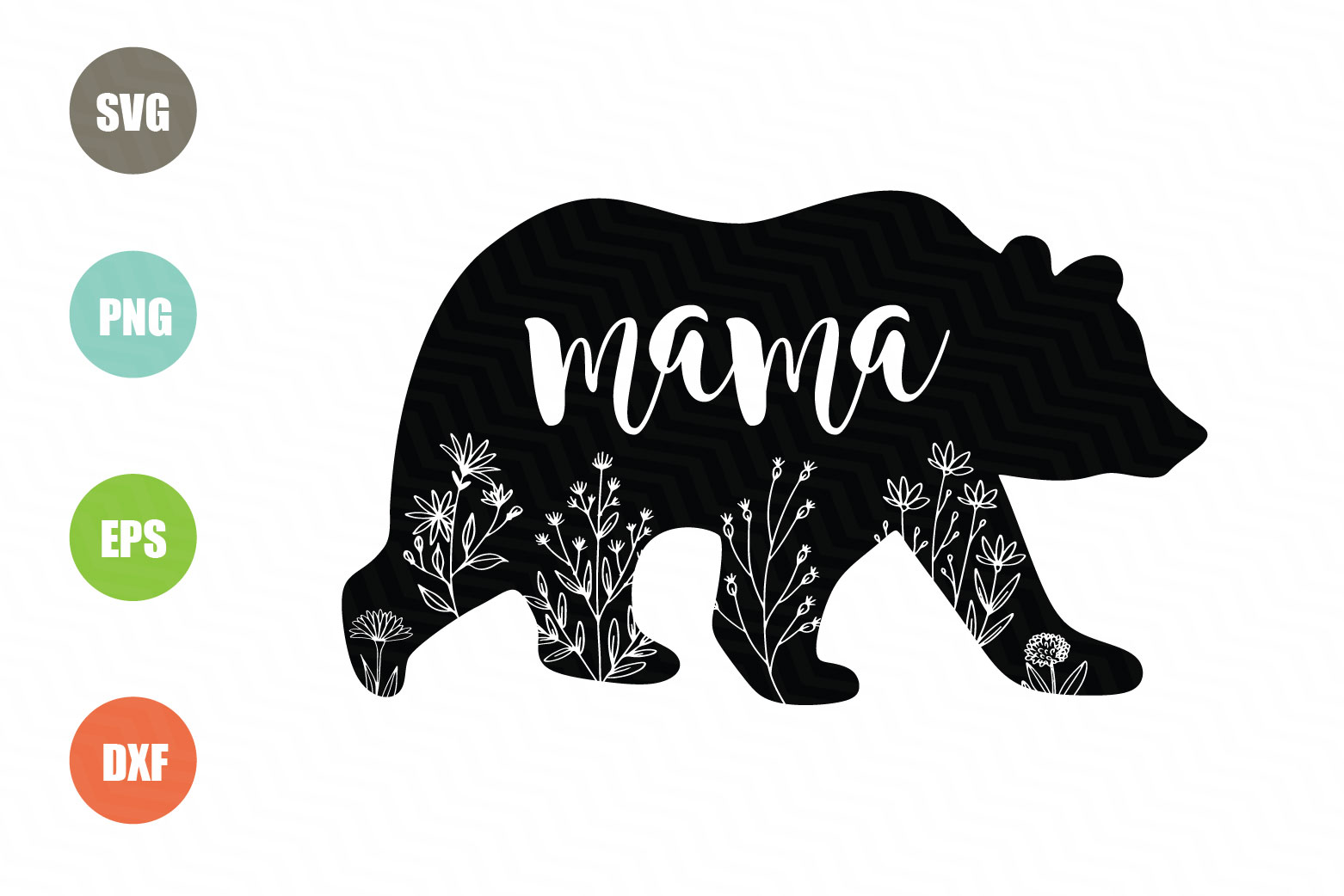 Download Free Mama Bear Silhouette Graphic By Logotrain034 Creative Fabrica for Cricut Explore, Silhouette and other cutting machines.