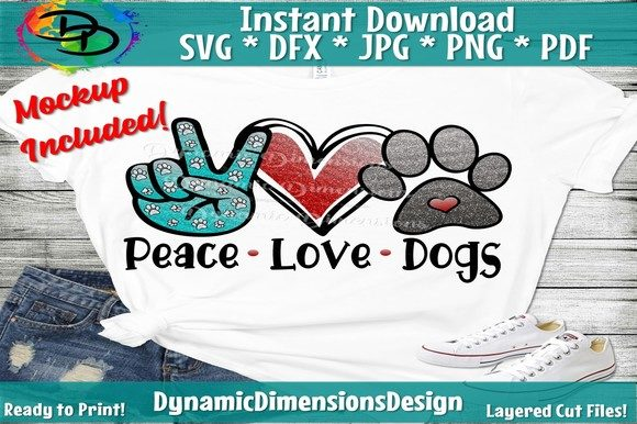 Print on Demand: Peace Love Dogs Graphic Crafts By dynamicdimensions