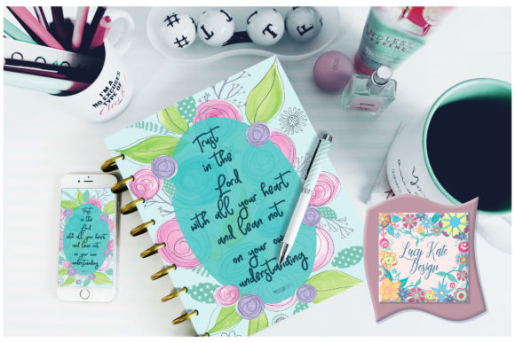 Download Free Proverbs 3 Floral Bible Verse Graphic By Lucy Kate Design for Cricut Explore, Silhouette and other cutting machines.