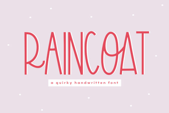 Print on Demand: Raincoat Display Font By KA Designs