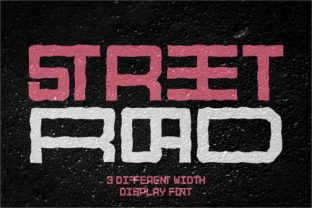 Print on Demand: Street Road Display Font By putracetol