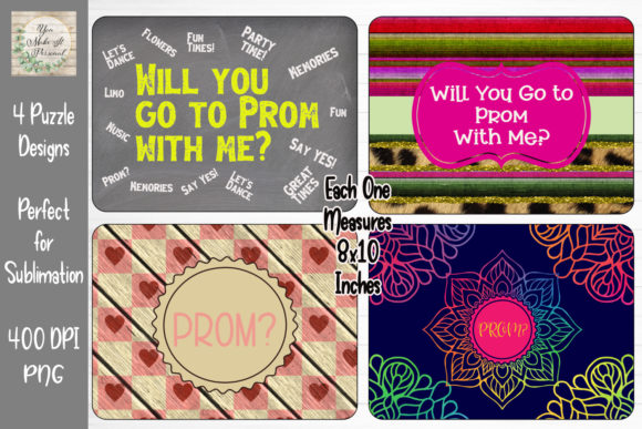Print on Demand: Sublimation Prom Puzzle Design Bundle Graphic Print Templates By You Make It Personal