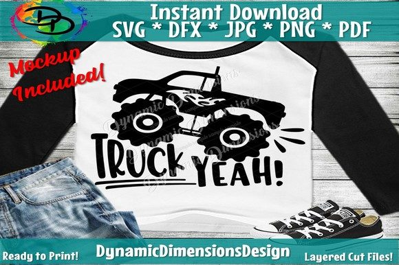 Download Free Truck Yeah Graphic By Dynamicdimensions Creative Fabrica for Cricut Explore, Silhouette and other cutting machines.