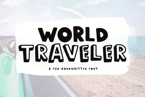 Print on Demand: World Traveler Display Font By KA Designs