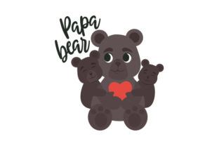 Papa Bear Father's Day Craft Cut File By Creative Fabrica Crafts
