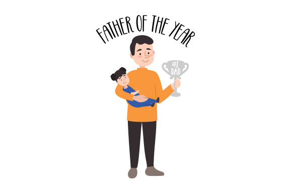 Father of the Year Father's Day Craft Cut File By Creative Fabrica Crafts