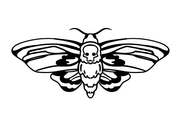 Download Free Death Head Moth Svg Cut File By Creative Fabrica Crafts for Cricut Explore, Silhouette and other cutting machines.