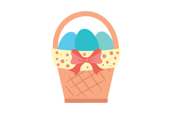 Easter Basket Ostern Plotterdatei von Creative Fabrica Crafts