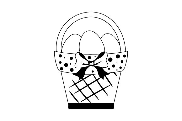 Easter Basket Easter Craft Cut File By Creative Fabrica Crafts - Image 2