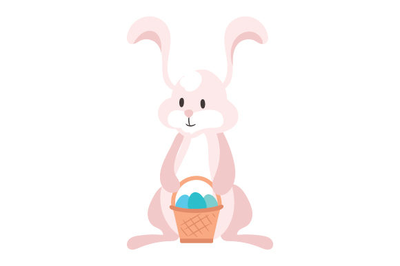Download Free Bunny Holding Easter Basket Svg Cut File By Creative Fabrica SVG Cut Files