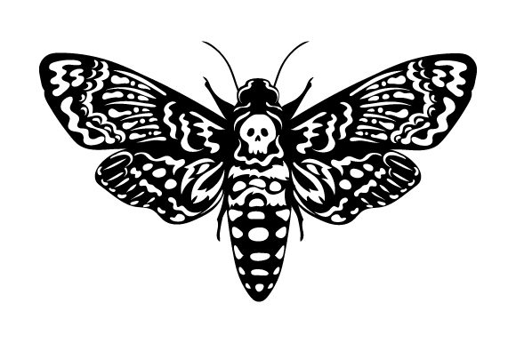 Death Head Moth Designs & Zeichnungen Plotterdatei von Creative Fabrica Crafts