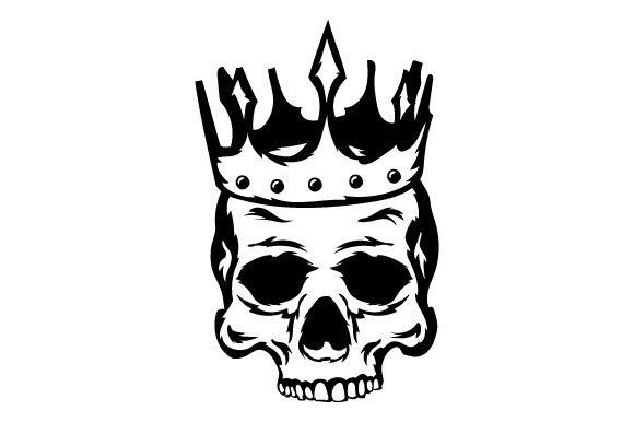 Download Free Skull With Crown Svg Cut File By Creative Fabrica Crafts for Cricut Explore, Silhouette and other cutting machines.