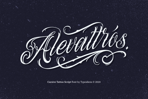Download Free Alevattros Font By Typealiens Creative Fabrica for Cricut Explore, Silhouette and other cutting machines.