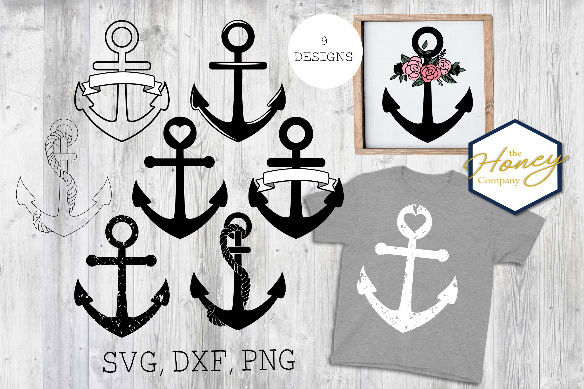Download Free Anchor Bundle Graphic By The Honey Company Creative Fabrica for Cricut Explore, Silhouette and other cutting machines.