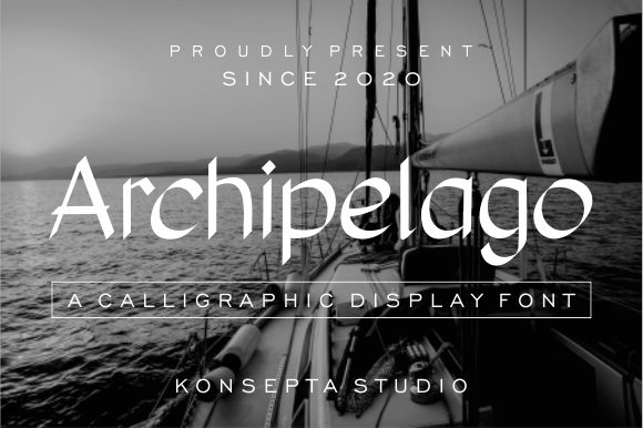 Print on Demand: Archipelago Display Font By Konsepta Studio