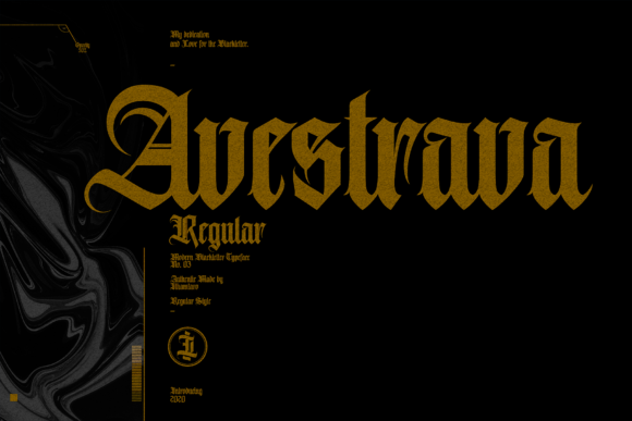 Print on Demand: Avestrava Blackletter Font By ilhamtaro