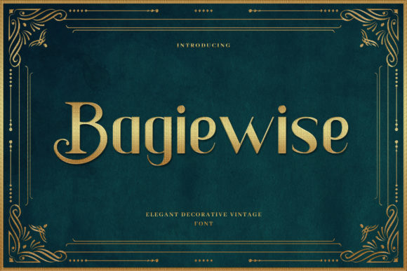 Print on Demand: Bagiewise Serif Font By naulicrea