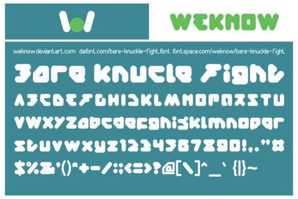 Print on Demand: Bare Knuckle Fight Display Font By weknow