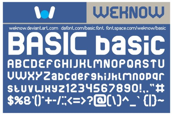Print on Demand: Basic Display Font By weknow