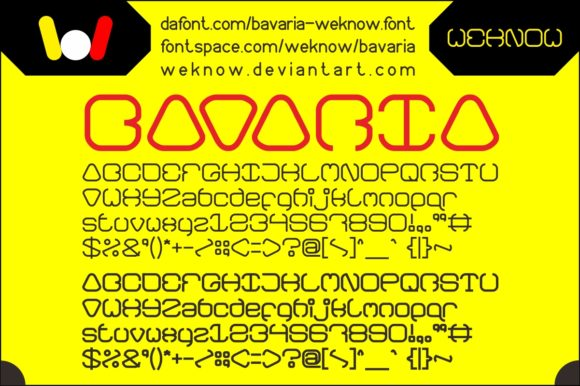 Print on Demand: Bavaria Display Font By weknow