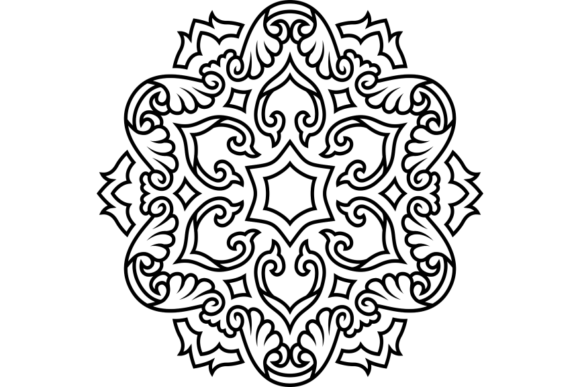 Print on Demand: Beautiful Mandala Design 218 Graphic Coloring Pages & Books Adults By ermannofficial